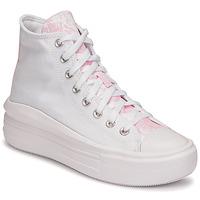 Skor Dam Höga sneakers Converse CHUCK TAYLOR ALL STAR MOVE HYBRID FLORAL HI Vit