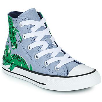 Skor Barn Höga sneakers Converse CHUCK TAYLOR ALL STAR DINO DAZE HI Blå / Grön