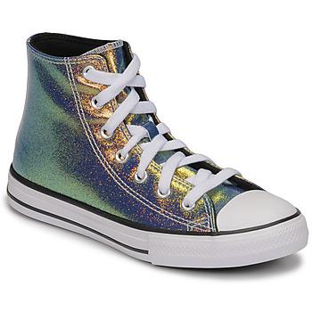 Skor Flickor Höga sneakers Converse CHUCK TAYLOR ALL STAR IRIDESCENT GLITTER HI Silver