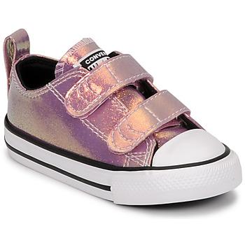 Skor Flickor Sneakers Converse CHUCK TAYLOR ALL STAR 2V IRIDESCENT GLITTER OX Rosa
