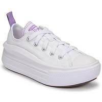 Skor Flickor Sneakers Converse CHUCK TAYLOR ALL STAR MOVE CANVAS OX Vit / Rosa