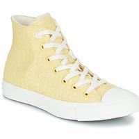 Skor Dam Höga sneakers Converse CHUCK TAYLOR ALL STAR HYBRID TEXTURE HI Gul