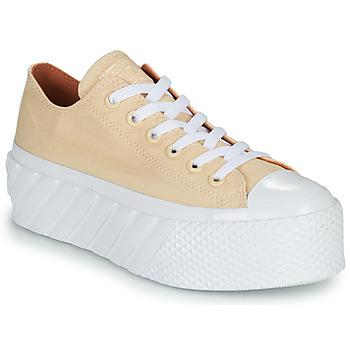 Skor Dam Sneakers Converse CHUCK TAYLOR ALL STAR LIFT 2X HYBRID SHINE OX Gul
