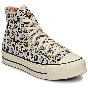 Skor Dam Höga sneakers Converse CHUCK TAYLOR ALL STAR LIFT MYSTIC WORLD HI Vit / Flerfärgad