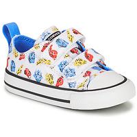 Skor Barn Sneakers Converse CHUCK TAYLOR ALL STAR 2V DINO DAZE OX Vit / Grön / Orange