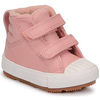 Skor Flickor Höga sneakers Converse CHUCK TAYLOR ALL STAR BERKSHIRE BOOT SEASONAL LEATHER HI Rosa