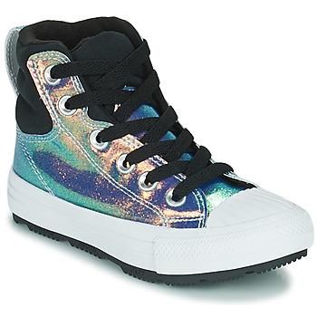 Skor Flickor Höga sneakers Converse CHUCK TAYLOR ALL STAR BERKSHIRE BOOT IRIDESCENT LEATHER HI Svart / Blank