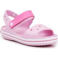 Skor Flickor Sandaler Crocs Crocband Sandal Kids12856-6GD pink