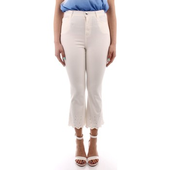 textil Dam Chinos / Carrot jeans Marella SIFONE WHITE