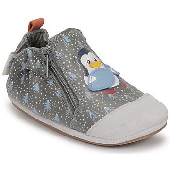 Skor Pojkar Babytofflor Robeez BLUE PINGUINS Grå