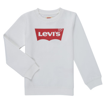 textil Pojkar Sweatshirts Levi's BATWING CREWNECK SWEATSHIRT Vit
