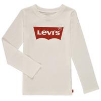 textil Flickor Långärmade T-shirts Levi's LS BATWING TEE Vit