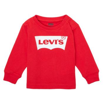 textil Pojkar Långärmade T-shirts Levi's L/S BATWING TEE Röd