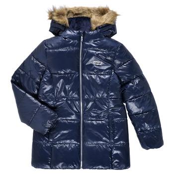 textil Flickor Täckjackor Levi's FUR PUFFER Blå