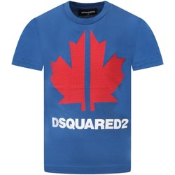 textil Pojkar T-shirts Dsquared DQ0028-D004G Royal Blue