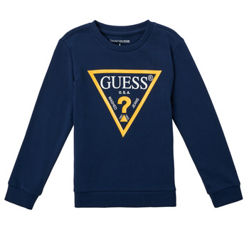 textil Pojkar Sweatshirts Guess CANISE Svart
