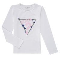 textil Flickor Långärmade T-shirts Guess MONICA Vit