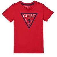 textil Pojkar T-shirts Guess THOLMA Röd