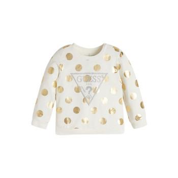 textil Flickor Sweatshirts Guess KUBLO Vit
