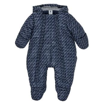 textil Pojkar Täckjackor Petit Bateau FRENNY Marin / Vit