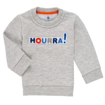 textil Pojkar Sweatshirts Petit Bateau TERRI Grå