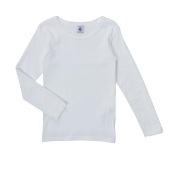 textil Flickor Långärmade T-shirts Petit Bateau FATRE Vit