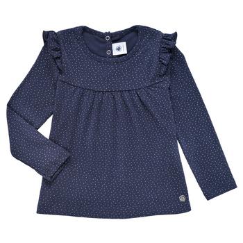 textil Flickor Långärmade T-shirts Petit Bateau IWAKA Marin