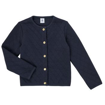 textil Flickor Koftor / Cardigans / Västar Petit Bateau COLYNNE Blå
