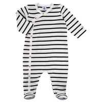 textil Barn Pyjamas/nattlinne Petit Bateau ONZER Vit / Marin