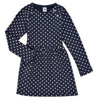 textil Flickor Korta klänningar Petit Bateau KARREMA Blå / Vit