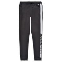 textil Pojkar Joggingbyxor Calvin Klein Jeans RESPIRA Svart