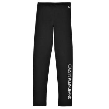 textil Flickor Leggings Calvin Klein Jeans MERCA Svart