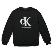textil Flickor Sweatshirts Calvin Klein Jeans POLLI Svart