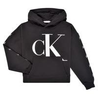 textil Flickor Sweatshirts Calvin Klein Jeans SALOMA Svart
