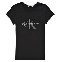 textil Flickor T-shirts Calvin Klein Jeans VOYAT Svart