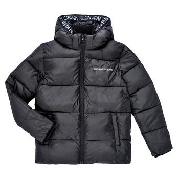 textil Pojkar Täckjackor Calvin Klein Jeans LITHERA Svart