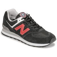 Skor Herr Sneakers New Balance 574 Svart / Röd