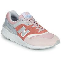 Skor Dam Sneakers New Balance 997 Rosa / Grå