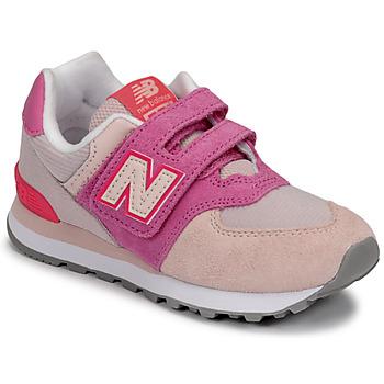 Skor Flickor Sneakers New Balance 574 Rosa / Violett