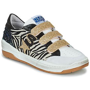 Skor Dam Sneakers Semerdjian GOETH Svart / Vit / Guldfärgad