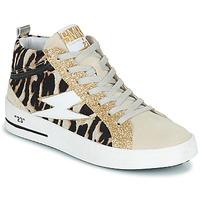 Skor Dam Höga sneakers Semerdjian CIELLO Beige / Guldfärgad