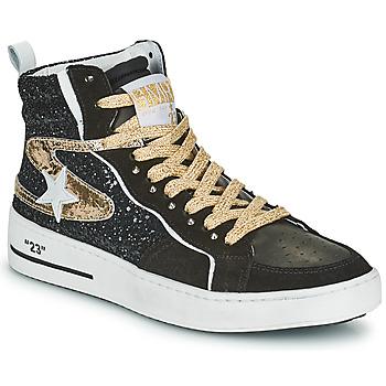 Skor Dam Höga sneakers Semerdjian MARAL Svart / Guldfärgad