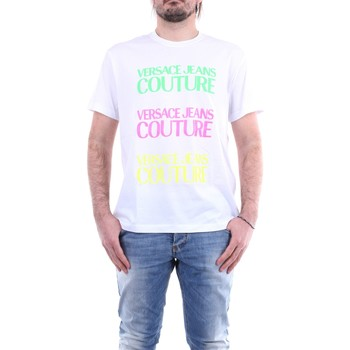 textil Herr T-shirts Versace Jeans Couture B3GZA7TCZUP600 White