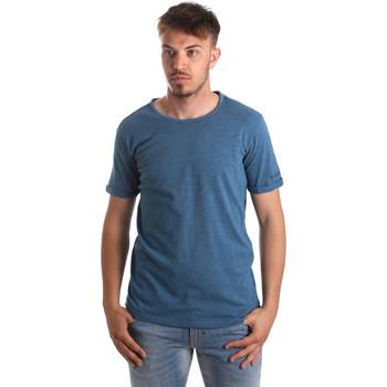 textil Herr T-shirts & Pikétröjor Gaudi 911BU64027 Blå