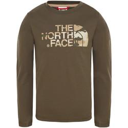 textil Barn T-shirts & Pikétröjor The North Face T93S3B Grön