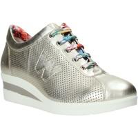 Skor Dam Sneakers Melluso HR20110 Guld