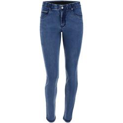 textil Dam Skinny Jeans Freddy BLACK1RS101 Blå