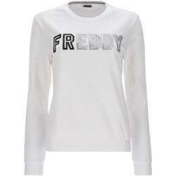 textil Dam Sweatshirts Freddy S1WCLS4 Vit