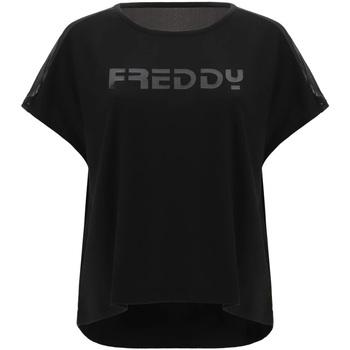 textil Dam T-shirts Freddy S1WTBT3 Svart