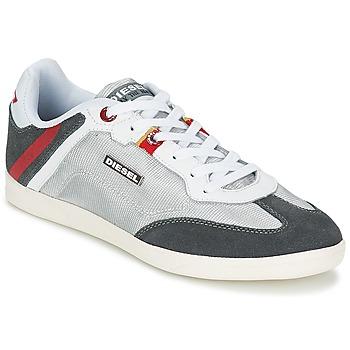 Skor Herr Sneakers Diesel Basket Diesel Silverfärgad
